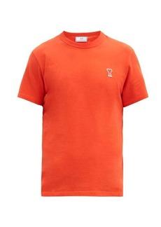AMI Ami de Coeur logo-patch cotton-jersey T-shirt