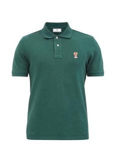 AMI Logo-patch cotton-piqué polo shirt