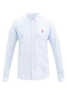 AMI Logo-patch cotton shirt