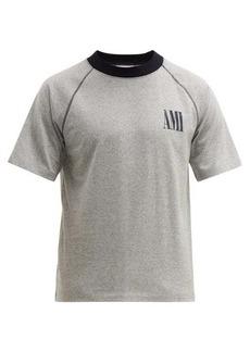 AMI Logo-print cotton T-shirt
