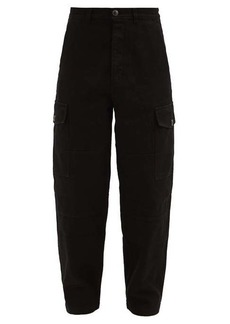 AMI Patch-pocket cotton-twill trousers