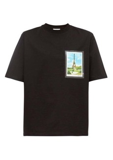 AMI Postcard-print cotton-jersey T-shirt