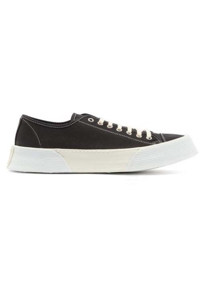 AMI Raised-sole low top canvas trainers