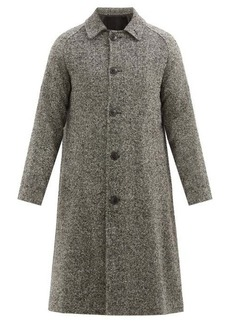 AMI Single-breasted wool-blend overcoat