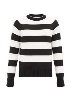 AMI Striped cotton-blend sweater