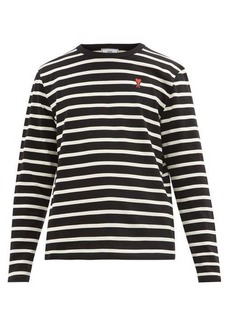 AMI Striped long sleeve cotton T-shirt