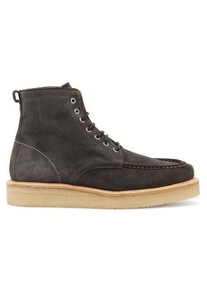 AMI Suede lace-up boots