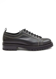 AMI Topstitched leather derby shoes