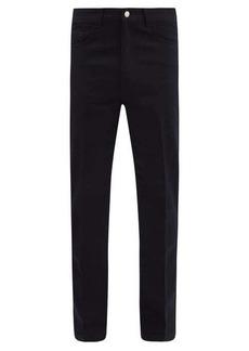 AMI Wool-blend twill straight-leg trousers