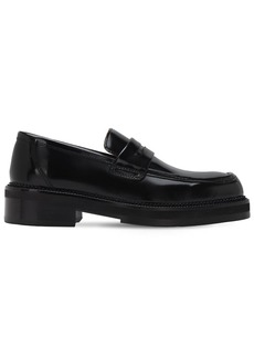 AMI Brushed Leather Loafers