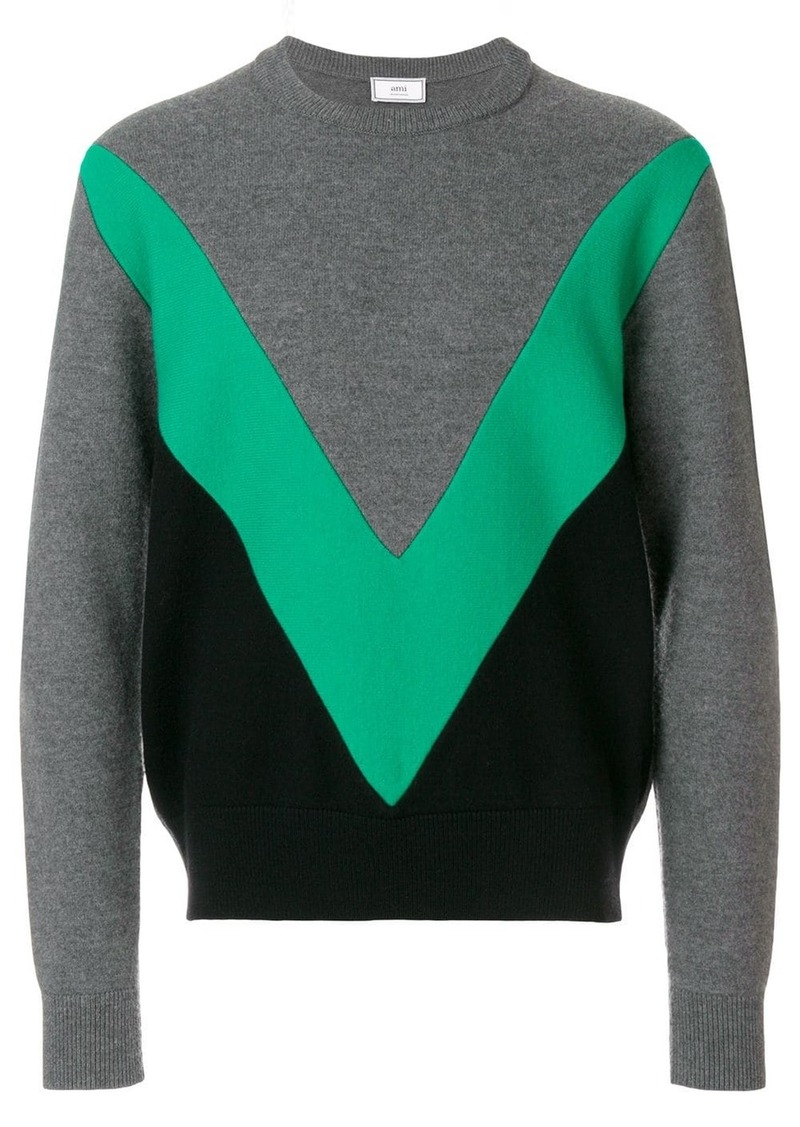 AMI colour block sweater