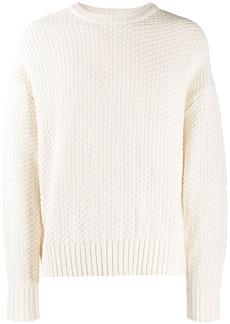 AMI crew neck Basket Stitch Sweater
