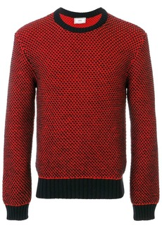 AMI Crewneck Birdseye Stitch Sweater