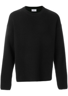 AMI Crewneck Oversize Fit Double Face Rib Sweater