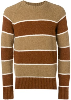 AMI crew neck Raglan Sleeves Striped Sweater