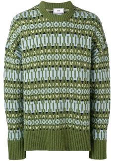 AMI crew neck Sweater Nordic Jacquard Pattern