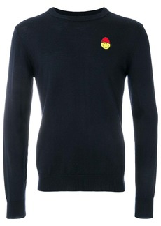 AMI Crewneck Sweater Smiley Chest Embroidery