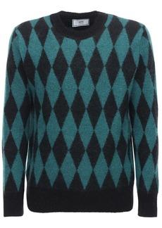 AMI Diamond Mohair Blend Knit Sweater