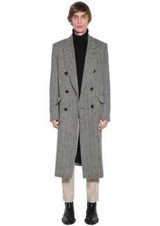 AMI Double Breasted Virgin Wool Coat
