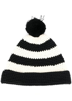 AMI hand knitted pompom beanie