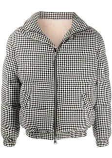 AMI houndstooth-pattern down jacket