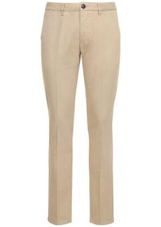 AMI Logo Cotton Gabardine Chino Pants