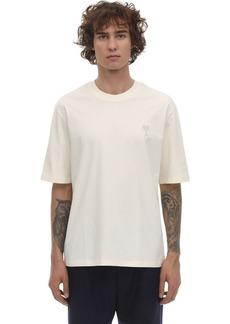 AMI Logo Patch Cotton Jersey T-shirt