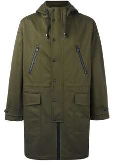 AMI long rain coat