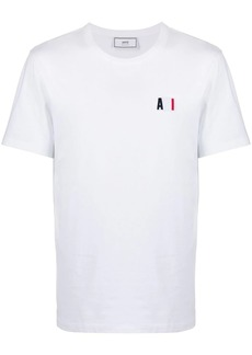 AMI logo-embroidered crew neck T-shirt