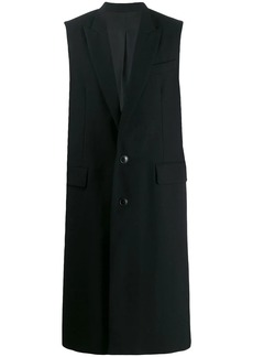 AMI lined two buttons sleeveless long coat