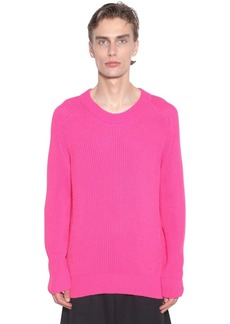 AMI Mix Cotton Knit Crewneck Sweater
