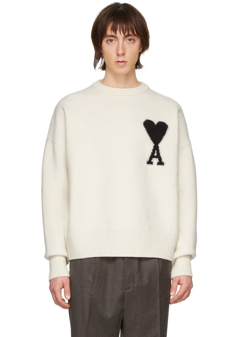 Off-White Merino Ami De Coeur Crewneck Sweater