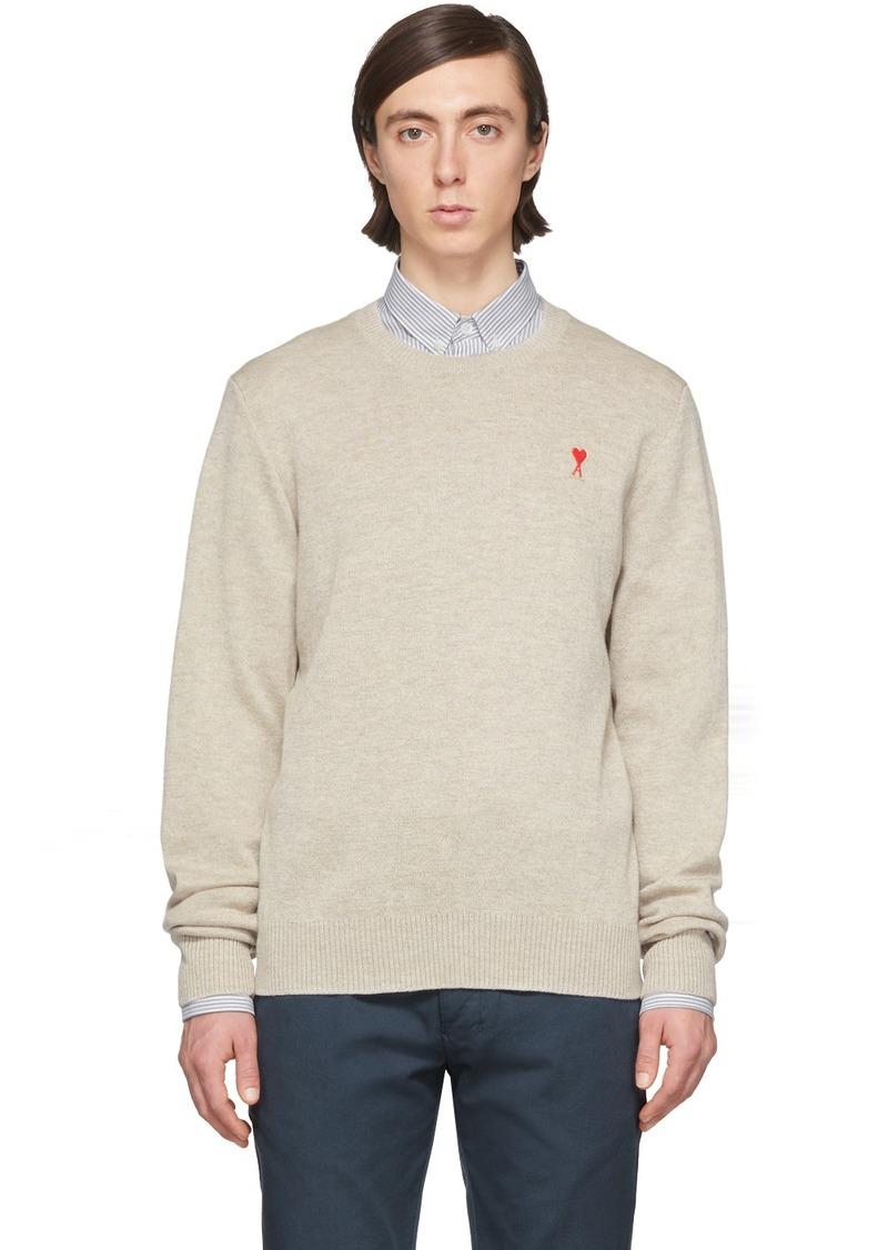 Off-White Merino Ami De Coeur Sweater