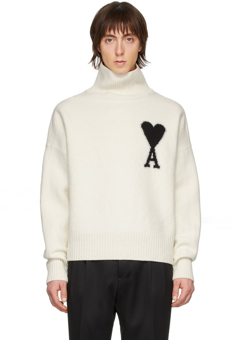Off-White Merino Ami De Coeur Turtleneck
