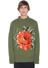AMI Oversize Jacquard Wool Knit Sweater