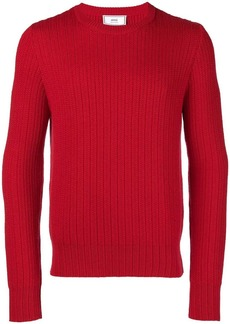 AMI ribbed crew neck sweater