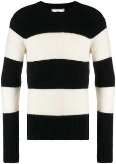 AMI striped crew neck jumper