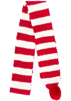 AMI striped knitted scarf