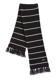 AMI Striped Wool Scarf