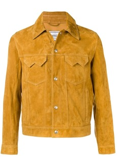 AMI Suede Buttoned Jacket With Chest Pockets