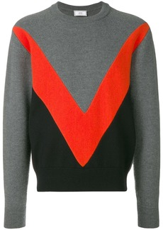 AMI Tricolor Crew Neck Sweater With Contrasted Bands