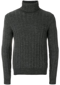 AMI Turtleneck Flat Ribbed Sweater
