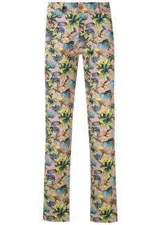 AMIR foliage print straight-leg trousers