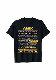 Mens AMIR Always Put Family First Men Name Tee T-Shirt