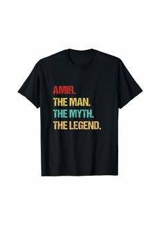 Mens Amir The Man The Myth The Legend T-Shirt