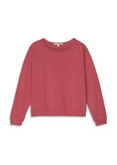 AMO Cotton Raw Edge Sweatshirt