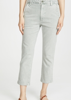 AMO Easy Relaxed Crop Straight Trousers