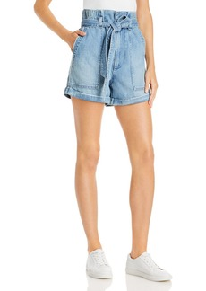 AMO Paperbag Jean Shorts in Blue