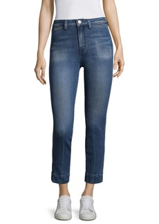 AMO Audry High-Waisted Cropped Jeans