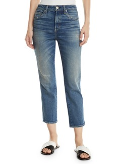 AMO Babe Straight-Leg Cropped Jeans